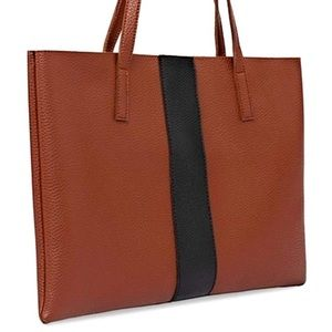 vince camuto vegan leather tote- like new!